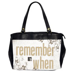 Remember When 2 Heritage Oversized Office Bag By Catvinnat   Oversize Office Handbag (2 Sides)   Bmmavja4h4du   Www Artscow Com Front