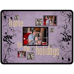 Home for the Holidays  x extra large triple frame Fleece - Fleece Blanket (Large)