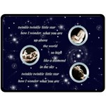 Twinkle Twinkle Little Star extra large baby keepsake fleece - Fleece Blanket (Large)