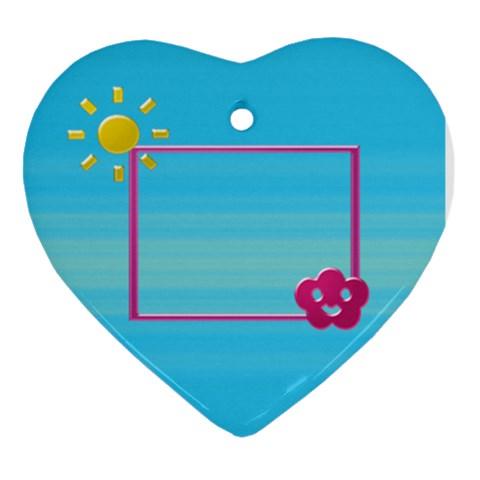 Sunny By Daniela   Ornament (heart)   V3s6zko2fj8m   Www Artscow Com Front