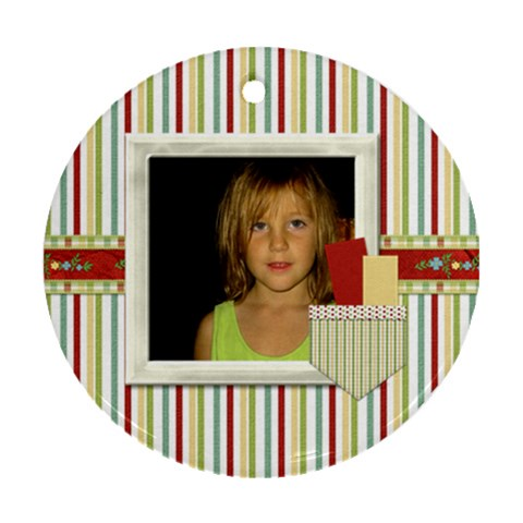 Happy Holidays Ornament 201 By Lisa Minor   Ornament (round)   3e4nr3gl9q2w   Www Artscow Com Front