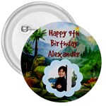 Dino Birthday - 3  Button