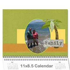 Linda Rick Calendar By Amanda   Wall Calendar 11  X 8 5  (12 Months)   Vqumru6rvpux   Www Artscow Com Cover
