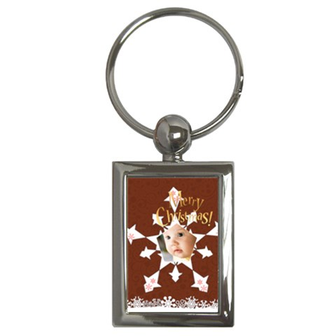 Snow Xmas By Joely   Key Chain (rectangle)   Cdfxupypoyhy   Www Artscow Com Front