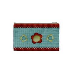 Scalloped Edge Cosmetic Bag By Sheena   Cosmetic Bag (small)   54dmtanz7byn   Www Artscow Com Back
