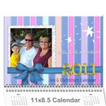 christine xmas calendar present - Wall Calendar 11  x 8.5  (12-Months)
