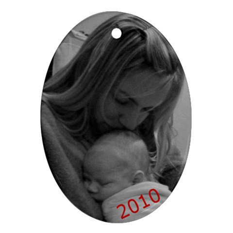 Missy And Ben Ornament By Lisa   Ornament (oval)   B0ysa2pkq8w9   Www Artscow Com Front