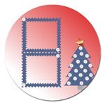 Christmas tree 1  magnet - 5   - Magnet 5  (Round)