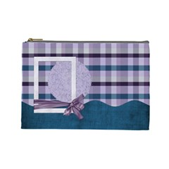Lavender Rain Cosmetic Bag Large 103 By Lisa Minor   Cosmetic Bag (large)   Tx1lu3w5j1xi   Www Artscow Com Front