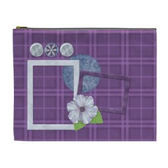 Lavender Rain Cosmetic Bag Xl 104 By Lisa Minor   Cosmetic Bag (xl)   Xhm74zfn930u   Www Artscow Com Front