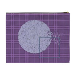 Lavender Rain Cosmetic Bag Xl 104 By Lisa Minor   Cosmetic Bag (xl)   Xhm74zfn930u   Www Artscow Com Back