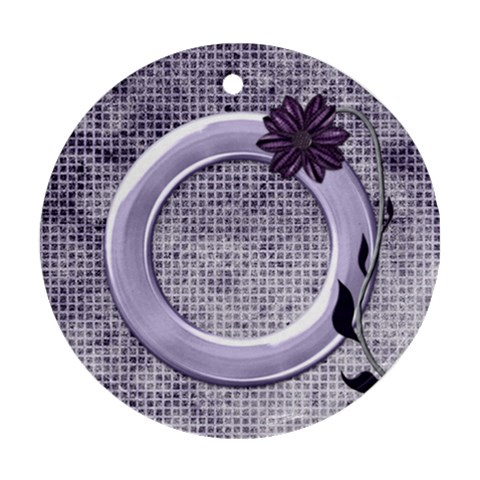 Lavender Rain Ornament 101 By Lisa Minor   Ornament (round)   Eba0ay2vf6tl   Www Artscow Com Front