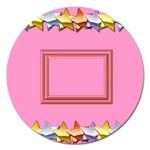 Pink birthday magnet - 5   - Magnet 5  (Round)