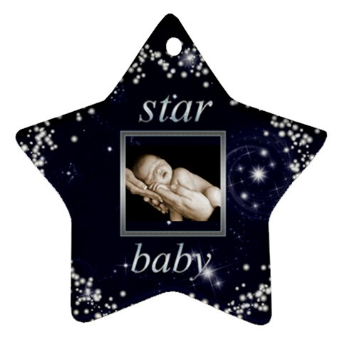Star Baby Star Ornament By Catvinnat   Ornament (star)   Inm24qk4dxa5   Www Artscow Com Front