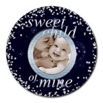 sweet child of mine mousemat - Round Mousepad