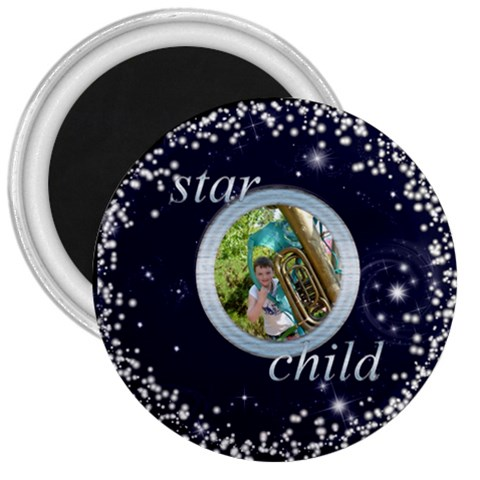 Star Child 3 Inch Fridge Magnet By Catvinnat   3  Magnet   0i59k18ghjr5   Www Artscow Com Front
