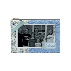 Cheryl s Medium Blue Purse By Lisa   Cosmetic Bag (medium)   Ohfeaa5g8hgf   Www Artscow Com Front