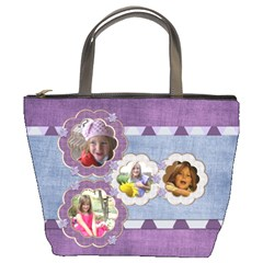 Lavender Rain Bucket Bag 101 By Lisa Minor   Bucket Bag   Lsil8fjujgzt   Www Artscow Com Front