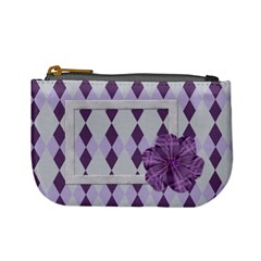 Lavender Rain Coin Purse 101 By Lisa Minor   Mini Coin Purse   Fc9t4myh2u0r   Www Artscow Com Front