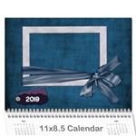 Lavender Rain Calendar - Wall Calendar 11  x 8.5  (12-Months)