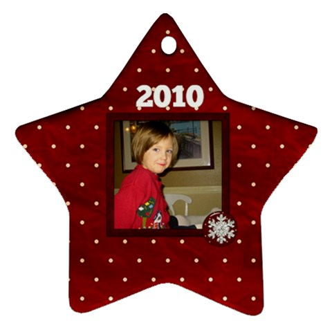 All I Want For Christmas Star Ornament 1 Side By Lisa Minor   Ornament (star)   Dzl4bf6dsh3d   Www Artscow Com Front