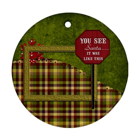 Round Christmas Ornament 101 By Lisa Minor   Ornament (round)   0bvtan1ewavj   Www Artscow Com Front