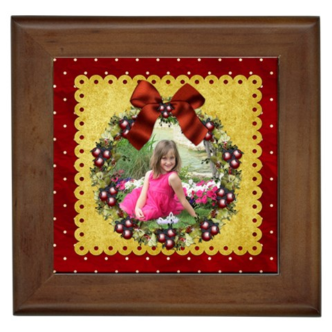 All I Want For Christmas Frame By Lisa Minor   Framed Tile   A716zsa7zssu   Www Artscow Com Front