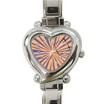 Orange purple watch - Heart Italian Charm Watch