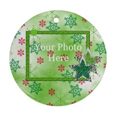 Merry And Bright Round Ornament 101 By Lisa Minor   Round Ornament (two Sides)   Q069m23suusc   Www Artscow Com Front