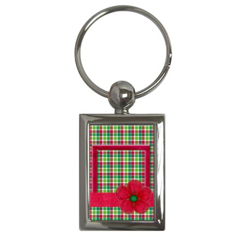 Merry And Bright Key Chain By Lisa Minor   Key Chain (rectangle)   M2l7ldvdqlsf   Www Artscow Com Front
