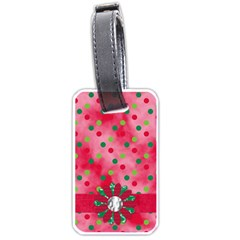 Merry And Bright Luggage Tag 1 By Lisa Minor   Luggage Tag (two Sides)   M8q2dhji0zrz   Www Artscow Com Back