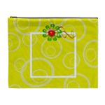 Yellow Swirls Custom Cosmetic Bag XL - Cosmetic Bag (XL)