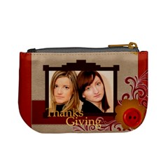 Thanksgiving By Joely   Mini Coin Purse   Jb0iwdqb1os1   Www Artscow Com Back