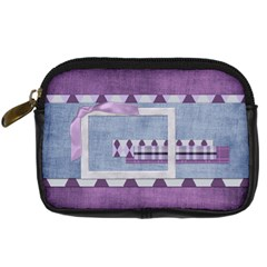 Lavender Rain Camera Bag 2 By Lisa Minor   Digital Camera Leather Case   X73497850lw8   Www Artscow Com Front