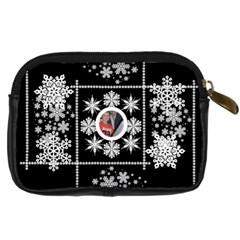 Midnight Snowstorm Camera Case 2 By Catvinnat   Digital Camera Leather Case   339e111uwibk   Www Artscow Com Back