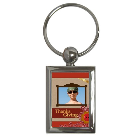Thanksgiving By Joely   Key Chain (rectangle)   5pjmhtal06oz   Www Artscow Com Front