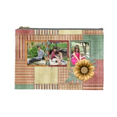 Quilted Large Cosmetic Bag By Lisa Minor   Cosmetic Bag (large)   Y3lqyrflzbls   Www Artscow Com Front