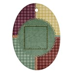Quilted Oval 1 sided Ornament - Ornament (Oval)