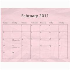 Marl2 2010 By Cajazl   Wall Calendar 11  X 8 5  (12 Months)   Uq1gydirwji0   Www Artscow Com Feb 2011