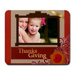 thanks giving - Large Mousepad