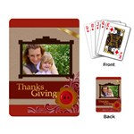 thanks giving - Playing Cards Single Design