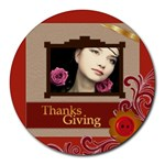 thanks giving - Collage Round Mousepad