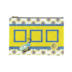 Silly Summer Fun Large Cosmetic Bag By Lisa Minor   Cosmetic Bag (large)   34e1dxb4mv3g   Www Artscow Com Front
