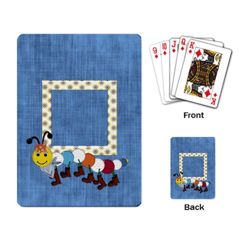 Silly Summer Fun Playing Cards 1 By Lisa Minor   Playing Cards Single Design   Gp52nkjx03jm   Www Artscow Com Back
