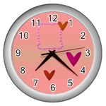 Heart you - Wall Clock (Silver)