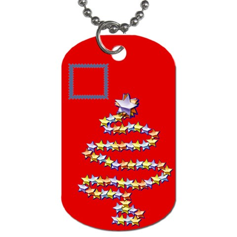 Christmas Tree By Daniela   Dog Tag (one Side)   Ua8ay4gnrypc   Www Artscow Com Front