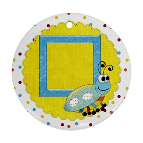 Silly Summer Fun 1 Side Ornament 1 By Lisa Minor   Ornament (round)   P8yiwaoc5g98   Www Artscow Com Front
