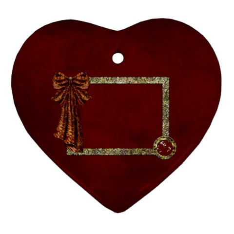 Arabian Spice Heart Ornament 1 Side 1 By Lisa Minor   Ornament (heart)   Le2f9nqegvty   Www Artscow Com Front
