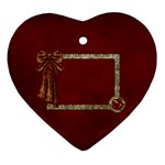 Arabian Spice heart ornament 1 side 1 - Ornament (Heart)