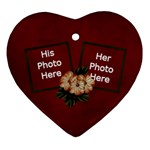 Arabian Spice Heart Ornamet 2 sides 1 - Heart Ornament (Two Sides)